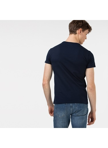 Lacoste Erkek Slim Fit Tişört TH0150.50L Lacivert